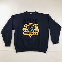 Vintage San Diego Chargers Crewneck Sweatshirt Size XL LA