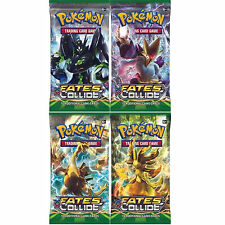POKEMON: XY-10 FATES COLLIDE 4 SEALED BOOSTER PACKS -NEW TRADING CARDS FOR 2016