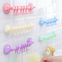 Wall 6 Hooks Powerful Removable Vacuum Plastic Suction Cup Hanger Bathroom UseUK