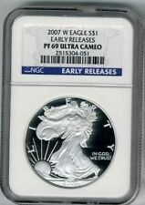 American Eagle PR 69 NGC Certified Silver Bullion Coins