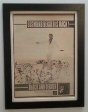 DESMOND DEKKER*Black & Dekker*1980*RARE*ORIGINAL*POSTER*AD*FRAMED*FAST SHIPPING