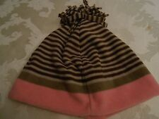 OLD NAVY PINK BROWN & TAN POM-POM TOP TODDLER HAT - ONE SIZE - NWT!
