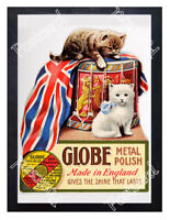 Historic Globe Metal Polish 1900s Advertising Postcard