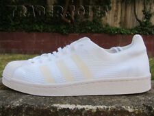 DS ADIDAS SUPERSTAR PRIMEKNIT BOOST TRIPLE WHITE BZ0130 sz 9.5 nmd ultraboost
