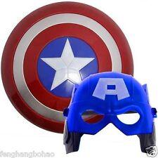 New Super Hero Avenger Marvel Captain America Shield  & Mask Cosplay Kids Gift