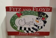 """In Box Fitz And Floyd """"Frosty's Frolic"""" Sentiment Serving Tray"""