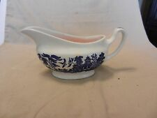 Churchill Blue Willow China Gravy Boat England