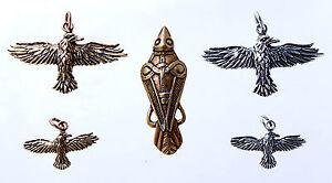 Odin Raven Hugin Munin Bronze Silver Band / Chain Odins Crows Viking Pendants