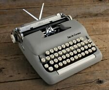 Vintage Smith Corona Sterling Typewriter in Gray