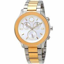 Movado Bold Chronograph Two-tone Women's Watch 3600546 39mm No Reserve