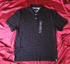 Tommy Hilfiger black polo golf shirt 2-button cotton Philippines men's XL NWT