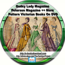 Godey Lady Magazines Peterson Magazine Patterns Civil War Era Dress Making 2 DVD