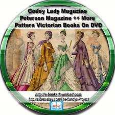Godey Lady Magazines Peterson Magazine Patterns Civil War Era Dress Making 3 Dvd