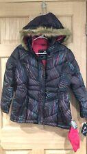 Girls Jackets Size 14/16 Large Rainbow Vertical '9 Winter Coats 2pcs Jacket+Hat