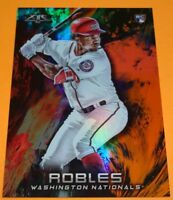 2018 TOPPS FIRE #25 NATIONALS VICTOR ROBLES ORANGE FLAME ROOKIE SERIAL #146/299
