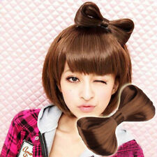 Women Hair Clips Bow Ties Wig Hairpin Knot Pins Barrette Hair Accessories Brown