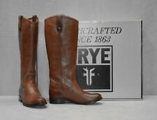 F0 NEW FRYE 77167 Melissa Button Tall Cognac Leather Riding Boots Size 6 M $368
