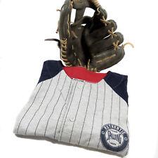 Halloween Baseball Player Costume Spalding Jersey Mizuno Glove Mitt Unisex