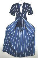 Japna Womens Short Sleeve Open Back Tie Waist High Low Dress V Neck New XS