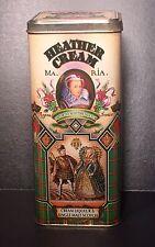 "Heather Cream Liqueur & Single Malt Scotch Scottish Tin Canister 10"" Royalty VTG"