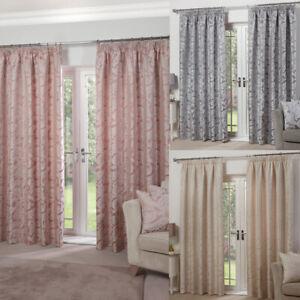 Luxury Jacquard Regent Duvet Cover Set / Bedspread / LINED Curtains / Cushions