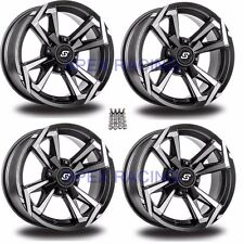 "(4) Sedona Riot Wheels Rims 12"" 4 Wheel Kit Kawasaki 750 i Brute Force 4x4 08-16"