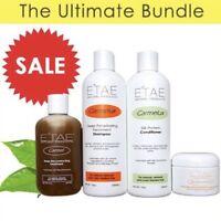 ETAE  E'TAE Natural Product CARMEL ,SHAMPOO, CONDITIONER & BUTTERSHINE 4PCS Set!