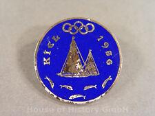 Abzeichen für Teilnehmer an der Olympiade `Kiel 1936`, emaillierte Brosche, 3159