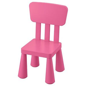 IKEA MAMMUT Kids Chair, PINK, For Indoor/Outdoor Use LIMITED STOCK FREE POSTAGE