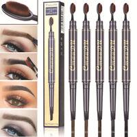 Multifunction Double-head Eyebrow Pencil Waterproof Eye Brow Tattoo Pen Beauty