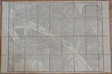 Nouveau Plan Itinéraire de la Ville de Paris par Perrier et Gallet 1831