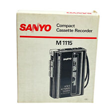 Sanyo M1115 Cassette Tape Recorder Voice Activated System - Open Box - Tested