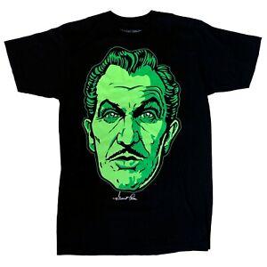 Kreepsville 666 Horror Vincent Price Classic Face Black Men T Shirt Size XXL 2XL