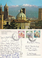 1980's THE ALPS FROM BOLOGNA ITALY COLOUR POSTCARD