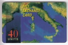 EUROPE TELECARTE / PHONECARD .. ITALIE  40U MCI  CARTE MAP ITALIA ITALY +N°