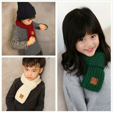 Boy Girl Baby Winter Warm Color Scarf Wool Knitting Children Neck Warmer Scarf