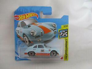 Hot Wheels 2021 Speed Graphics Porsche 356 Outlaw Gulf Racing Mint In Short Card