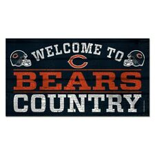 """CHICAGO BEARS WELCOME TO BEARS COUNTRY WOOD SIGN 13""""X24'' NEW WINCRAFT"""
