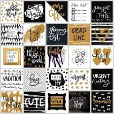 My Prima Planner Every Day Stickers, Planner Journal, Black & Gold Foil 157/Pk