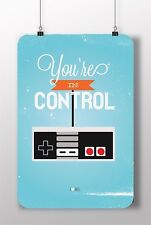METAL SIGN YOU ARE CONTROL NINTENDO ARCADE CLASSIC CONSOLE HOME DECOR VIDEO GAME