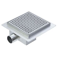 200mm Square Stainless Steel Wetroom Shower Drain Channel Trap Gully (#14)
