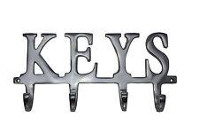 "Key Holder ""Keys"" - Wall Mounted Key Holder | 4 Key Hooks Rack| Decorative Ca..."