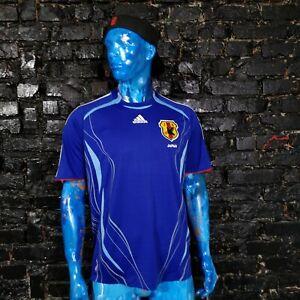 .Japan Team Jersey Home football shirt 2006-2008 Blue Adidas Trikot Mens Size L
