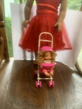 Baby Doll Stroller Fits From 6 1/2 Inch Doll To 18� Doll. Adjustable.