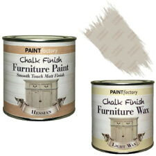 Paint Factory Chalk Chalky Furniture Paint 250ml Hessian + 0.2L Clear Wax