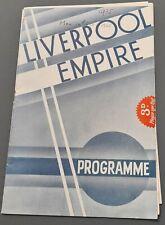 """1935 Covent Garden Opera tour prog Liverpool Empire """"Der Freischutz"""" Eva Turner"""