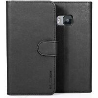for HTC One M9 Case BUDDIBOX Premium Leather Card Slot Wallet Flip Cover