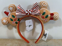 Disney Parks Gingerbread Christmas Holiday 2020 Mickey Minnie Ears Bow Headband