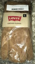 NEW Levi's Mens L Pig Suede Leather Winter Gloves with Shearling Lining