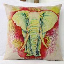 Thai Elephant Vintage Cotton Linen Cushion Cover Pillow Throw Case Sofa 45 Bali